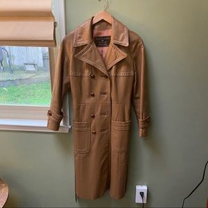 Vintage Dan Di Modes 26K Leather trench